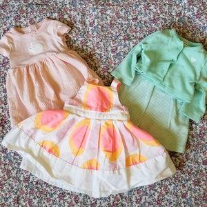 Carter's Newborn Baby Girl Summer Dress Bundle